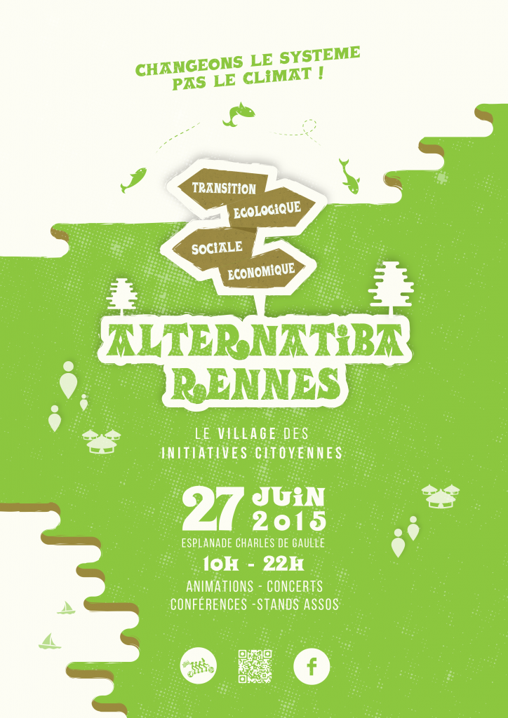 Affiche Alternatiba le village des initiatives citoyennes